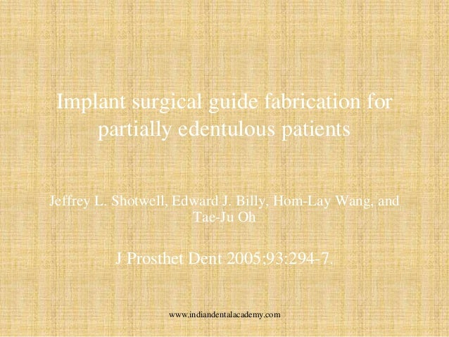 surgical guides for implant placement