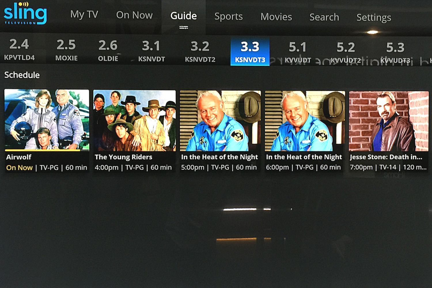 off air antenna channel guide