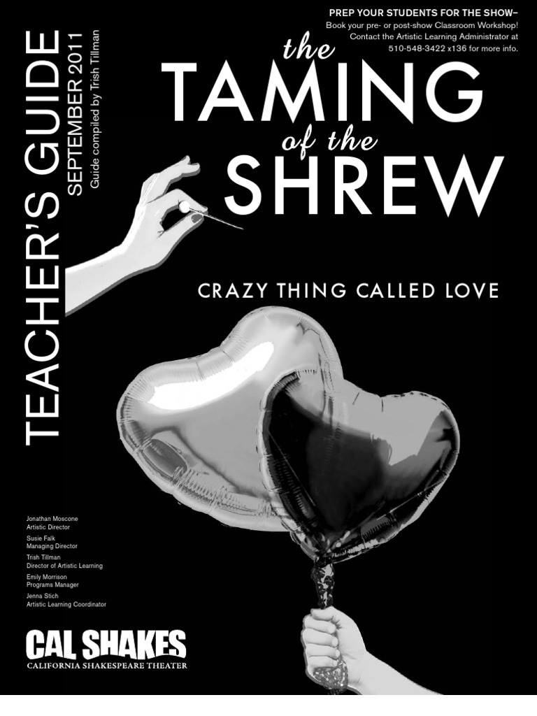 taming of the shrew study guide