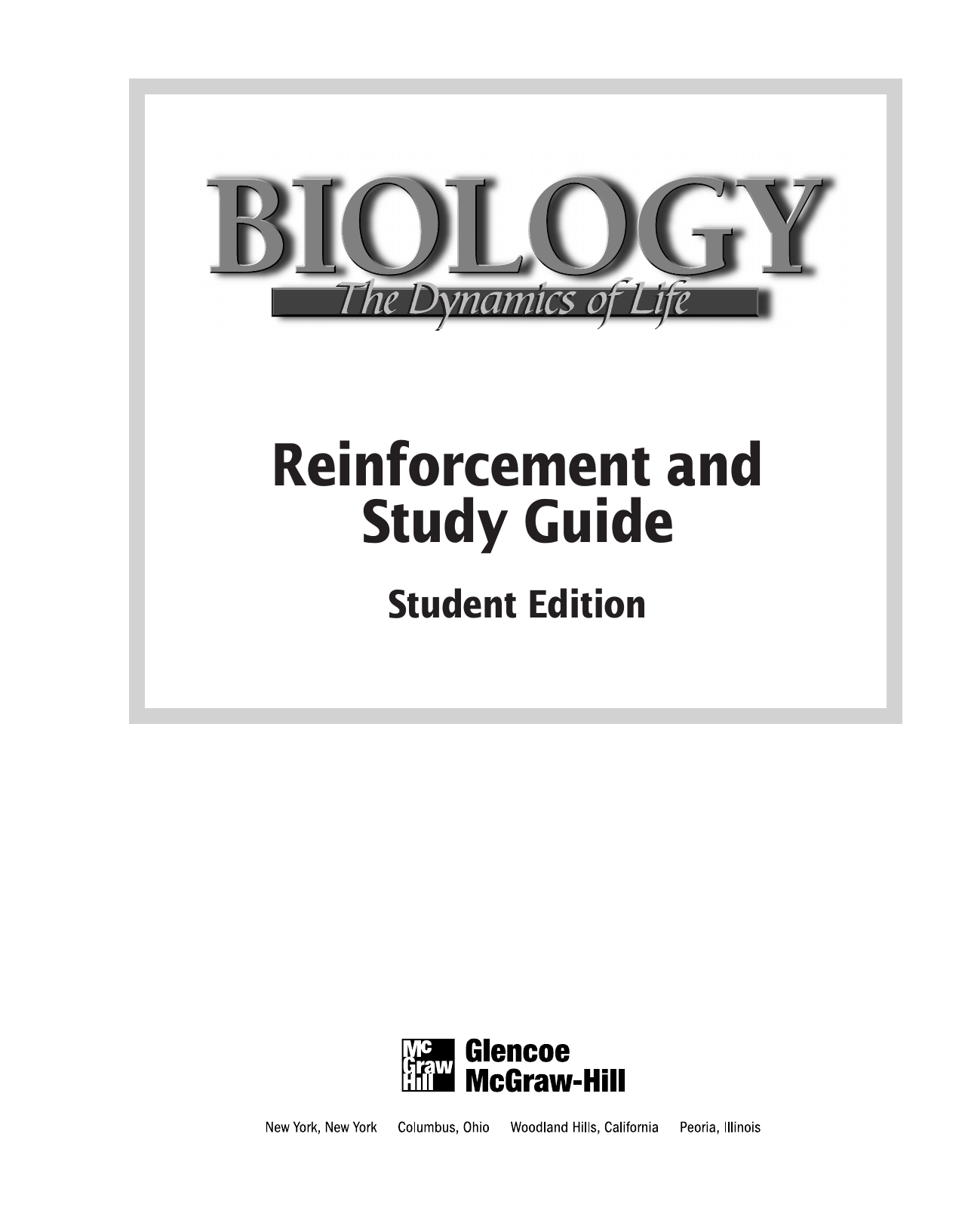 biology the dynamics of life reinforcement and study guide