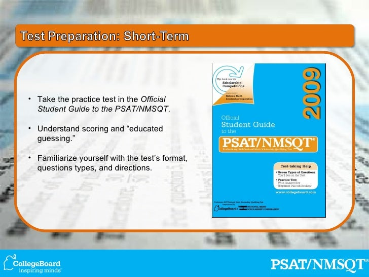 official student guide to the psat nmsqt 2016