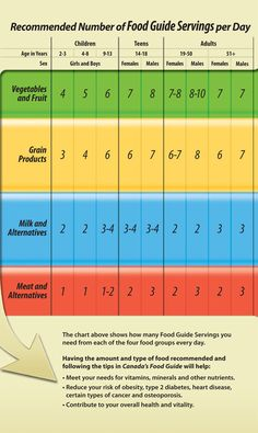 the canadian food guide chart